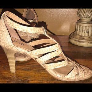 NANETTE dress sandal with ankle strap